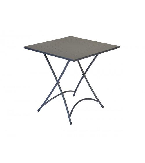 Tavolo orta 70x70 - ferro antracite - pieg.