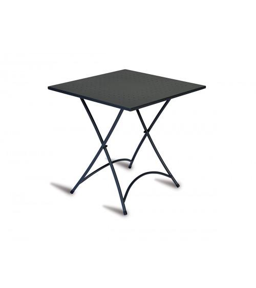 Tavolo stresa 70x70 - ferro nero - pieghev.